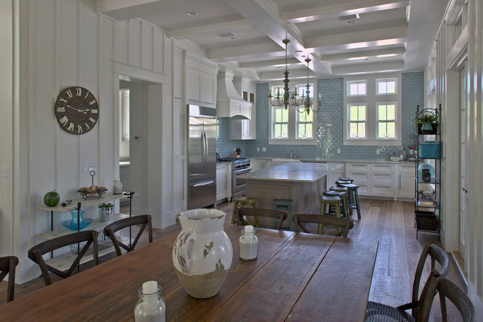 Board and Batten for a Traditional Kitchen with a Kitchen Island and Klein Residence by Geoff Chick & Associates