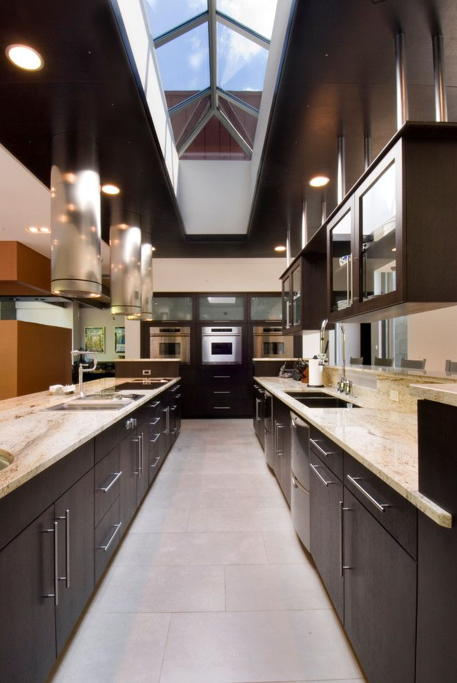 Bob Wallace Appliance for a Contemporary Kitchen with a Recessed Lights and Somrak Kitchens by Somrak Kitchens, Inc