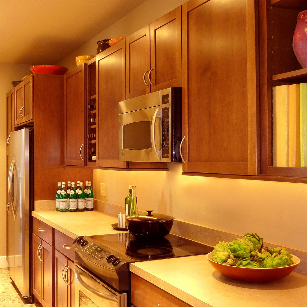 Bob Wallace Appliance for a Transitional Kitchen with a Built in Refrigerator and Hudson Valley Design by Hudson Valley Design