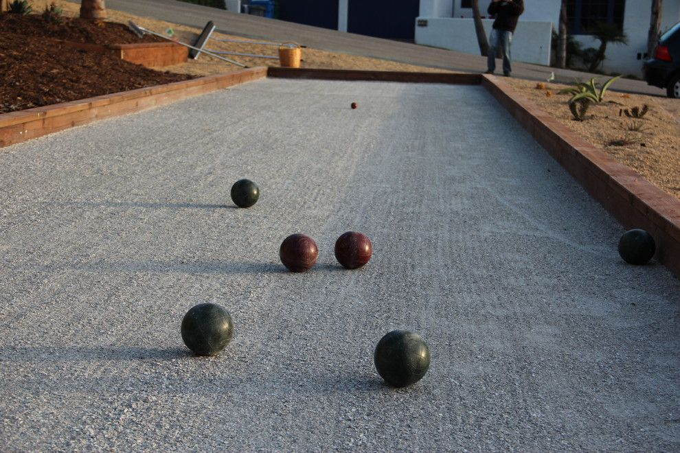 Bocce Court for a Eclectic Landscape with a Bocce and Bocce Court in Morro Bay by Gardens by Gabriel, Inc.