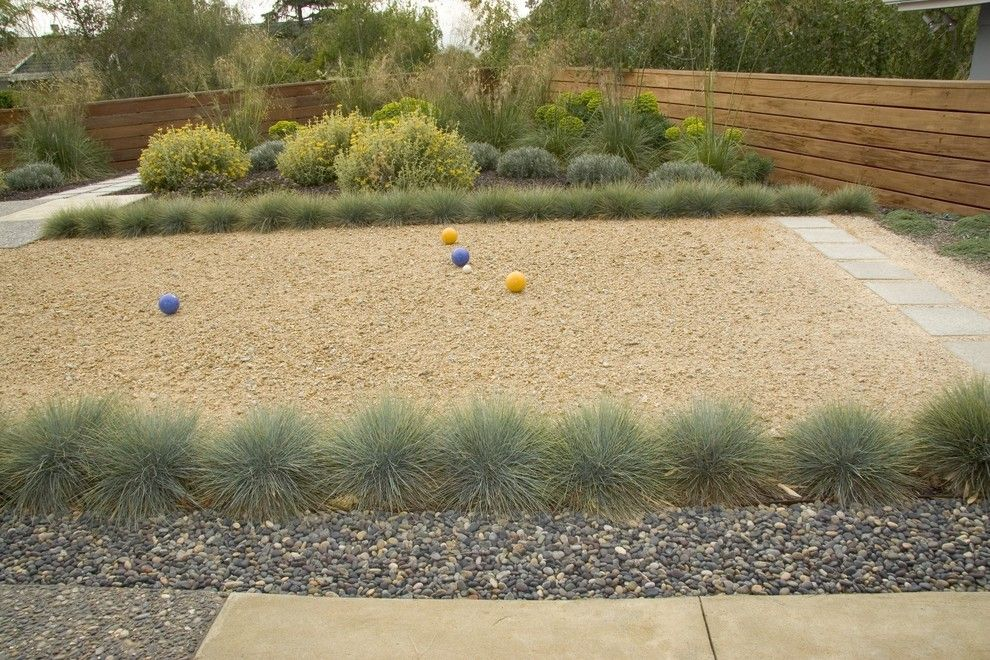 Bocce Court for a Midcentury Landscape with a California and Bonifield Residence by Jeffrey Gordon Smith Landscape Architecture