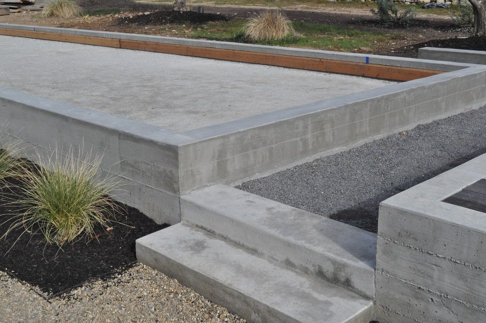 Bocce Court for a Modern Landscape with a Modern and Bocce Court by Huettl Landscape Architecture