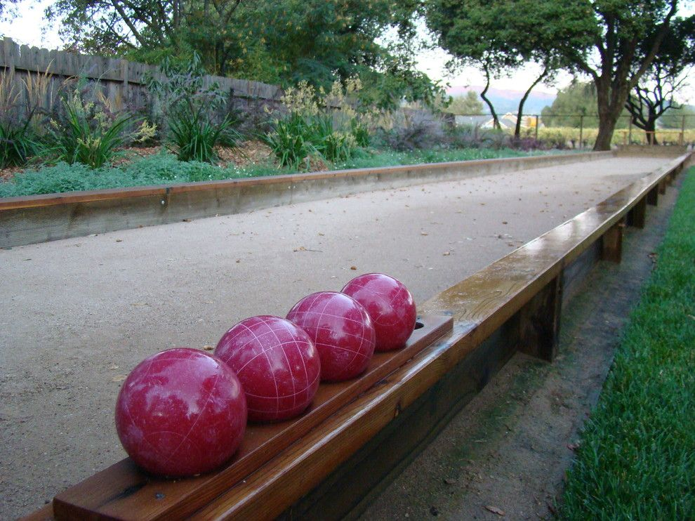 Bocce Court for a Modern Landscape with a Napa Valley and Bocce Ball Courts by Autumn Skies Landscapes
