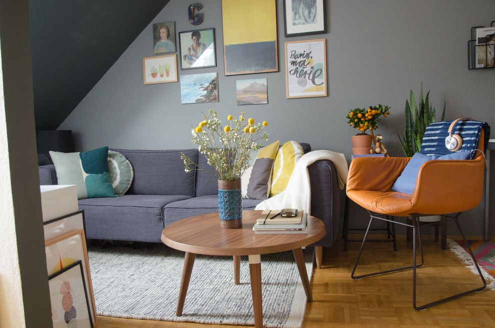 Boconcept for a Contemporary Living Room with a Dachschrge and Zu Besuch Bei Igor Happy Interior Blog by La Petite Olga