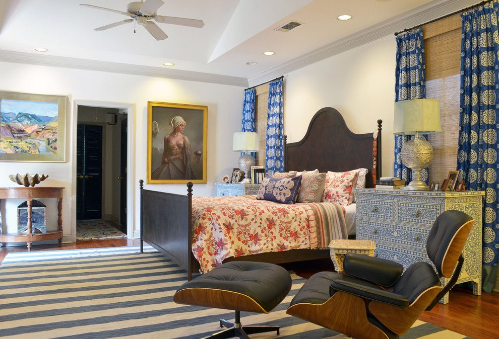 Bohemian Bedroom for a Eclectic Bedroom with a Art and Fort Worth, Tx: Mike & Ann Williams by Sarah Greenman