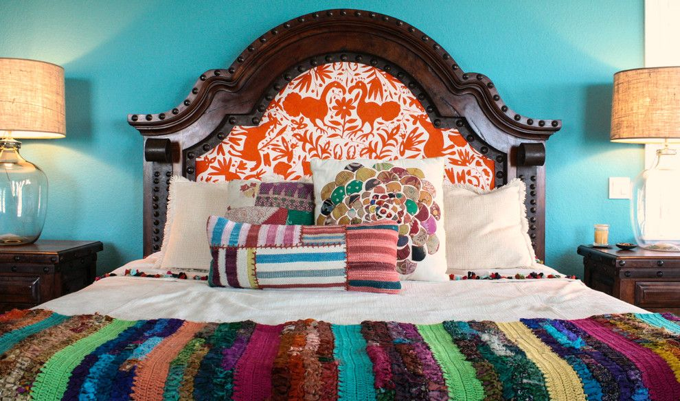 Bohemian Bedroom for a Mediterranean Bedroom with a Eclectic and My Houzz: Duncan Residence by Mina Brinkey