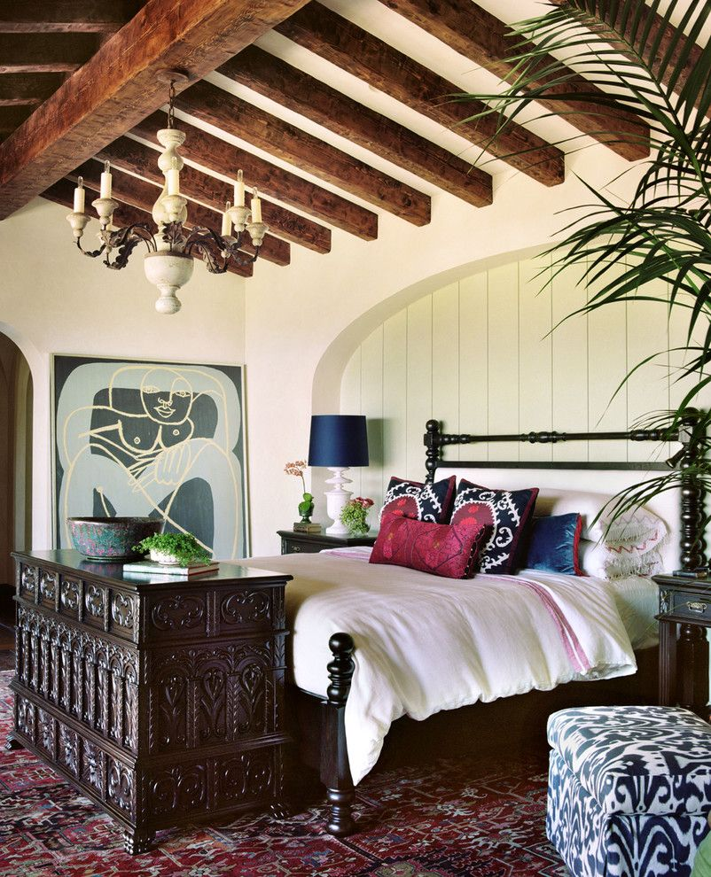 Bohemian Bedroom for a Mediterranean Bedroom with a Exposed Beams and Farmhouse by Pal + Smith