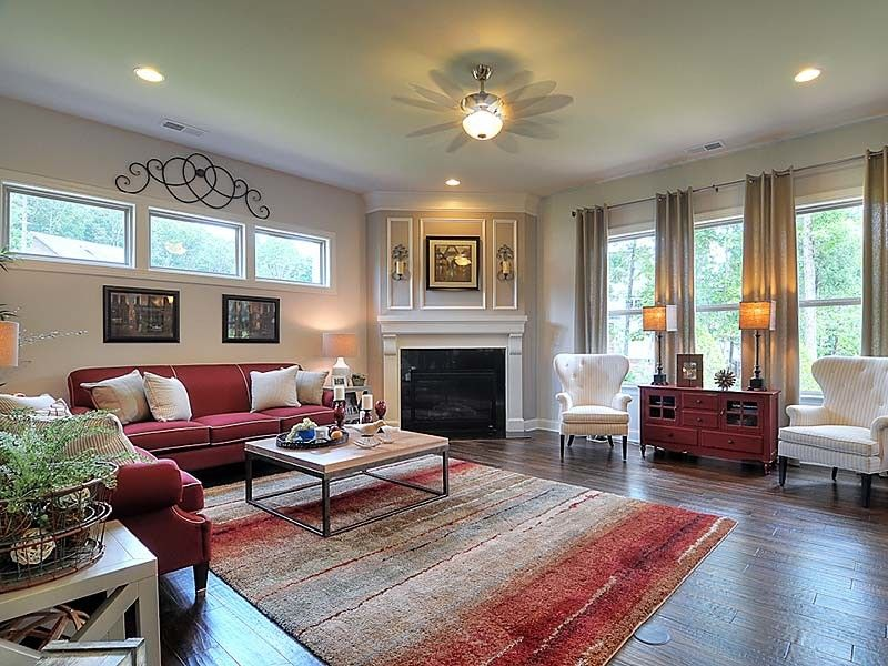 Bonterra Builders for a Traditional Living Room with a Ceiling Fan and Interiors by Bonterra Builders