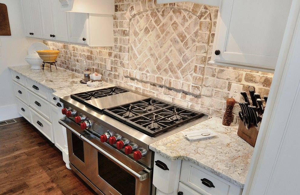 Boral Brick for a Traditional Kitchen with a Countertops and Marietta Home by Cr Home Design K&b (Construction Resources)