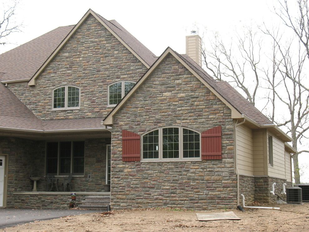 Boral Cultured Stone for a Traditional Exterior with a Stone Veneer and Boral Cultured Stone   Limestone by Brighton Stone & Fireplace, Inc.
