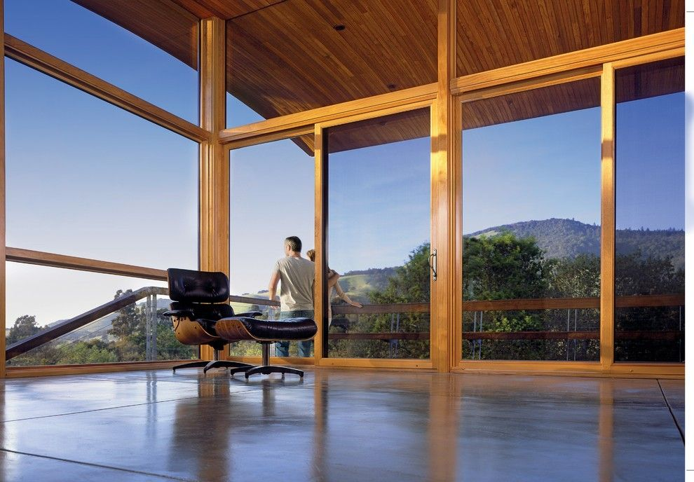 Boral Roofing for a Contemporary Sunroom with a Eames Lounge and Marvin Windows and Doors by Marvin Windows and Doors