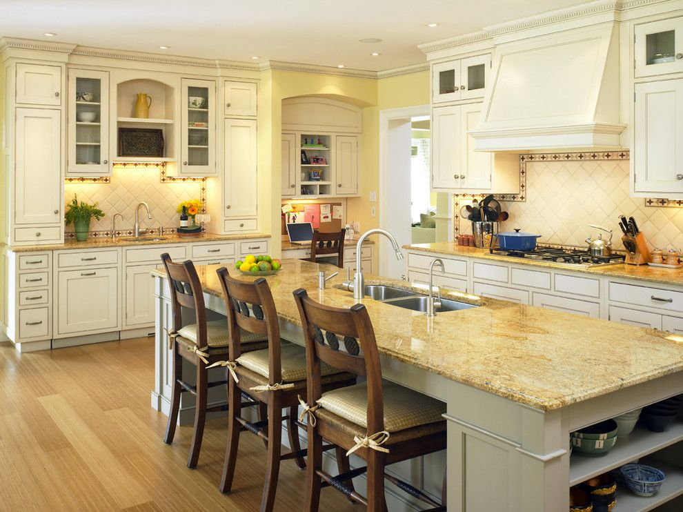 Boston granite exchange for a victorian kitchen with a for Victorian style kitchen