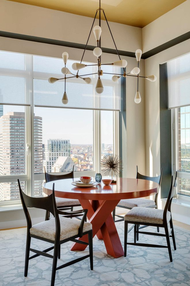 Boston Points of Interest for a Contemporary Dining Room with a Area Rug and Boston, Ma Residence by Andra Birkerts Design
