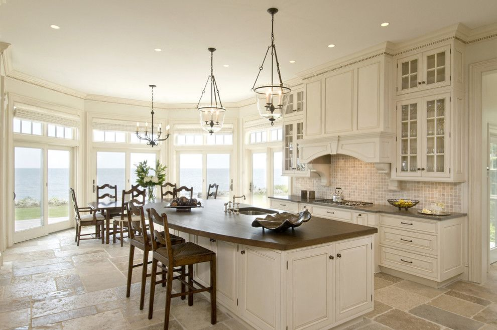 Boston Points of Interest for a Traditional Kitchen with a Dining Table and Premier by Venegas and Company