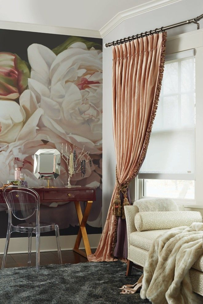 Boston Points of Interest for a Traditional Powder Room with a Tassels and Budget Blinds by Budget Blinds