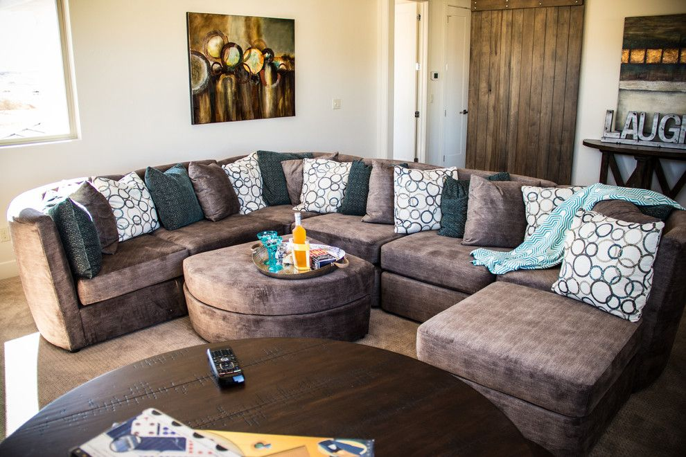 Boulevard Home Furnishings for a Transitional Home Theater with a Interior Design and Parade of Homes 2015   Richardson by Boulevard Home Furnishings