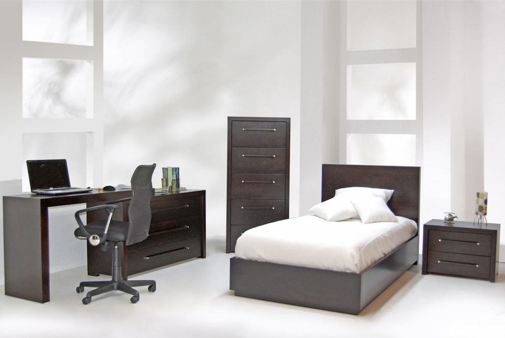 Bova Furniture for a  Bedroom with a Contemporary Office and Our Projects by Bova Scottsdale