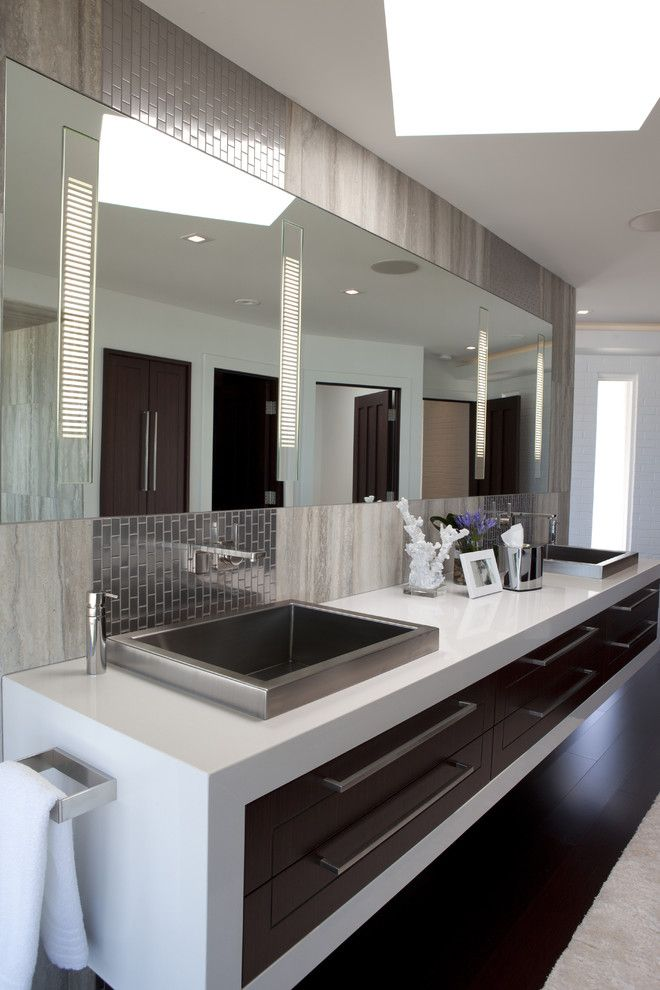 Boyd Lighting for a Contemporary Bathroom with a Contemporary and Classic Contemporary Residence by Shane D. Inman