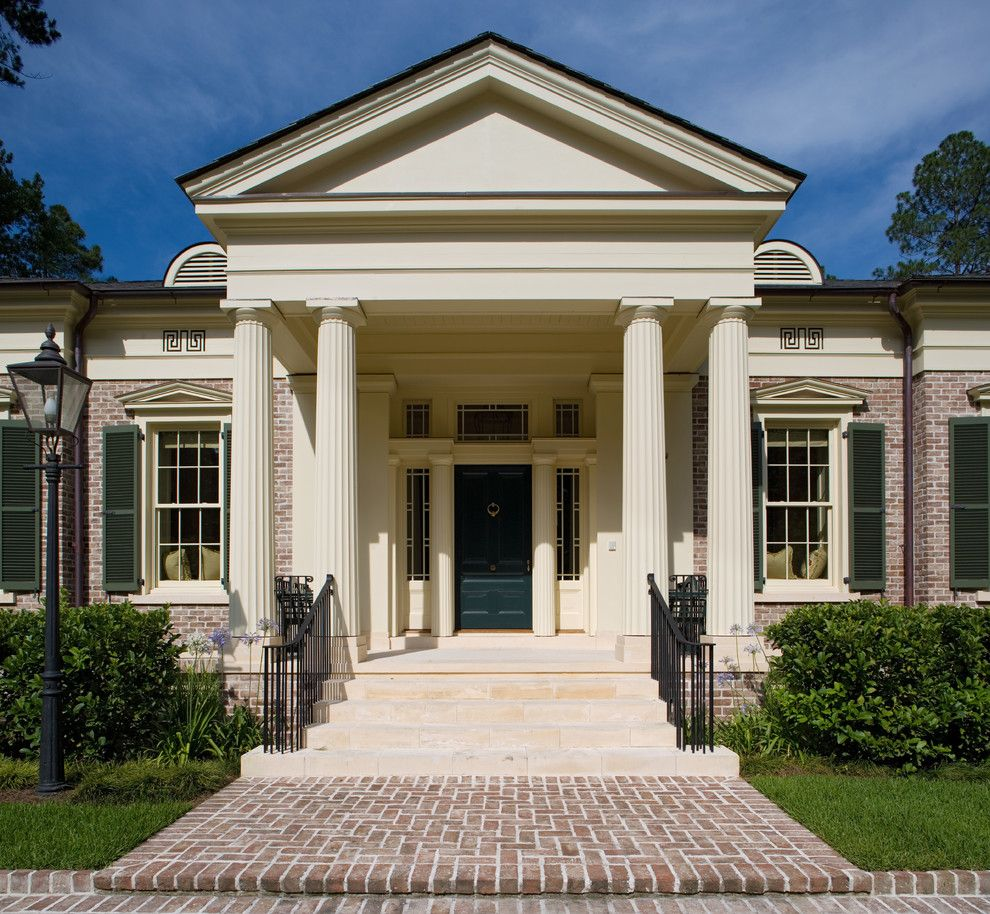 Brick Paver Patterns for a Traditional Exterior with a Bushes and Georgia Greek Revival by Historical Concepts