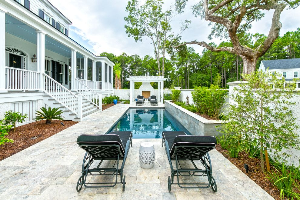 Brickman Landscaping for a Beach Style Pool with a Porch and Fall 2014 Best of Photos by Charleston Home + Design Mag
