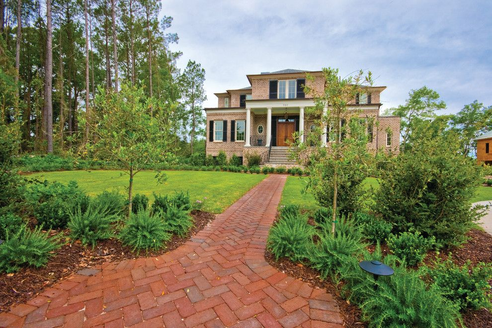 Brickman Landscaping for a Traditional Exterior with a Charleston and Exterior Photography by Patrick Brickman