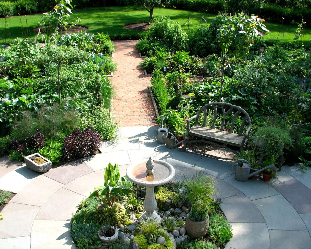 Brickman Landscaping for a Traditional Landscape with a Traditional and Potager Garden by the Brickman Group, Ltd.