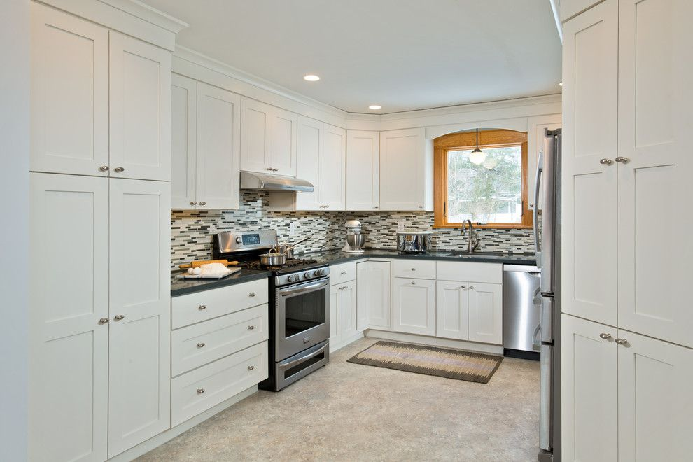 Bridger Steel for a Contemporary Kitchen with a White Kitchen and Niskayuna Kitchen Remodel by Bellamy Construction