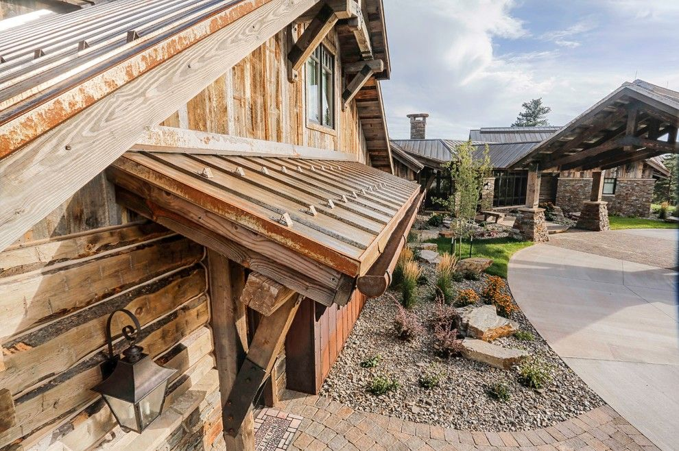 Bridger Steel for a Rustic Exterior with a Gutter and Rusted Steel by Bridger Steel, Inc