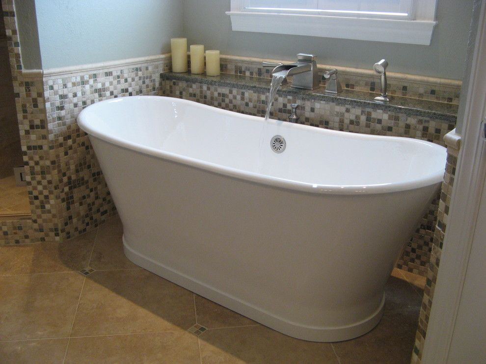 Brizo for a Traditional Bathroom with a Tile and Beaumont Construction, Inc. by Kathy Beaumont