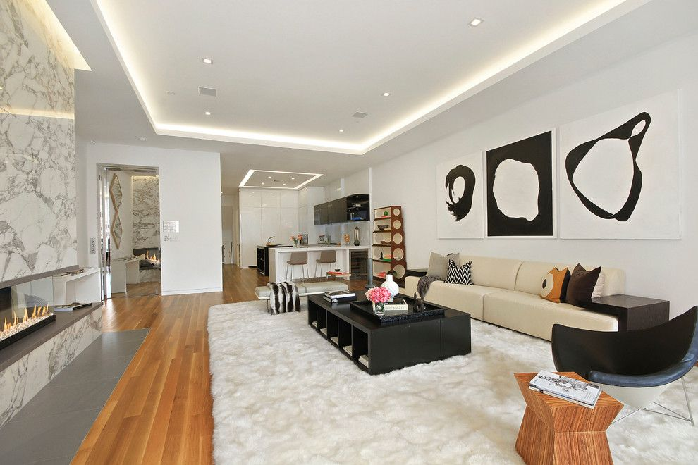 Broadway Carpets for a Modern Kitchen with a Ceasear Stone and 738 Broadway Nyc by Countrywide Kitchens