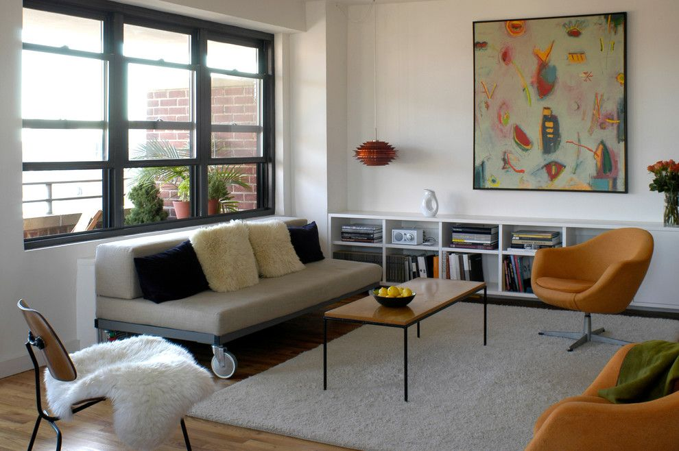 Broadway Carpets for a Modern Living Room with a Art Deco and East Broadway Residence by Ronnette Riley Architect