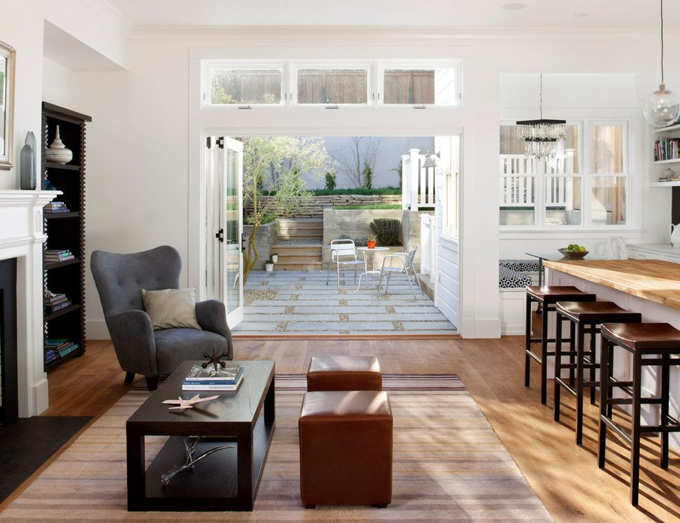 Brownstone Furniture for a Contemporary Family Room with a Dark Wood Coffee Table and Eco+Historical Sanchez 1 by Eco+Historical, Inc.