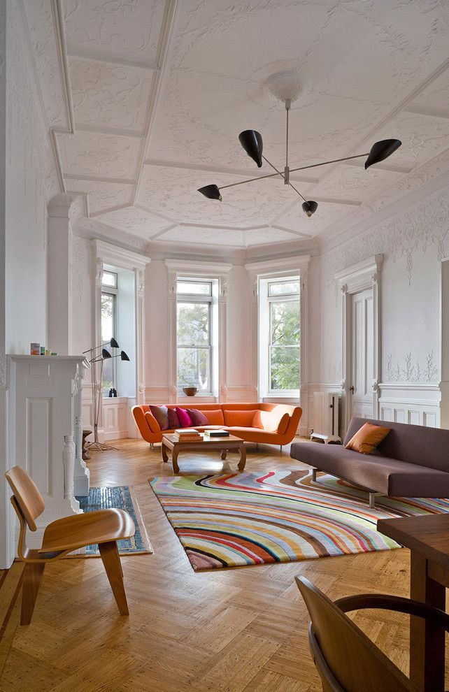 Brownstone Furniture for a Midcentury Living Room with a Brownstone and Columbia Heights Living Room by Leone Design Studio