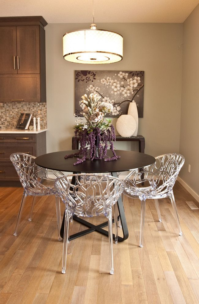 Brownstone Furniture for a Transitional Dining Room with a Light Gray Walls and Landmark Homes by Red Deer Carpet One