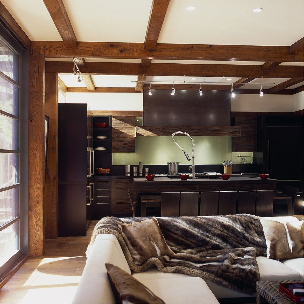 Bruck Lighting for a Craftsman Kitchen with a Wood Doors and Craftsman Teahouse by Gardner Mohr Architects Llc