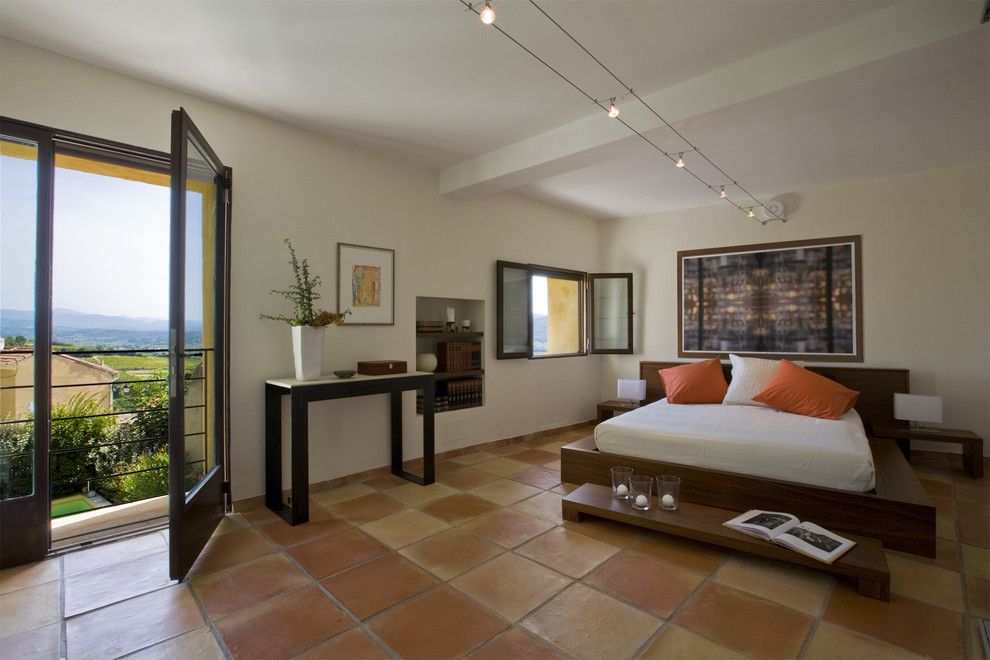Bruck Lighting for a Mediterranean Bedroom with a Update and Master Bedroom by Ernesto Santalla Pllc