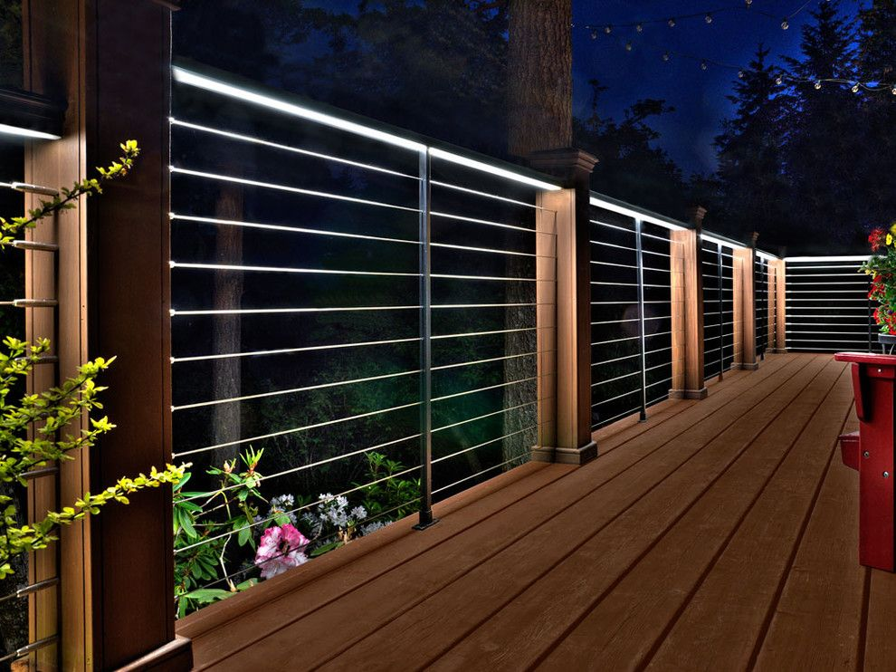 Bruck Lighting for a Modern Exterior with a Designrail Lighting and Feeney Lighting by Feeney Inc.