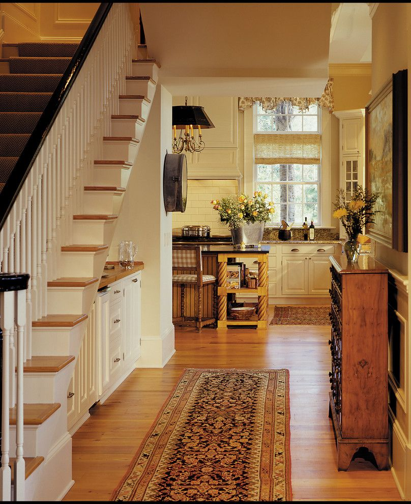 Buffington Homes for a Traditional Staircase with a Antique Flo and Buffington Homes  Kiawah Island, Sc by Buffington Homes South Carolina