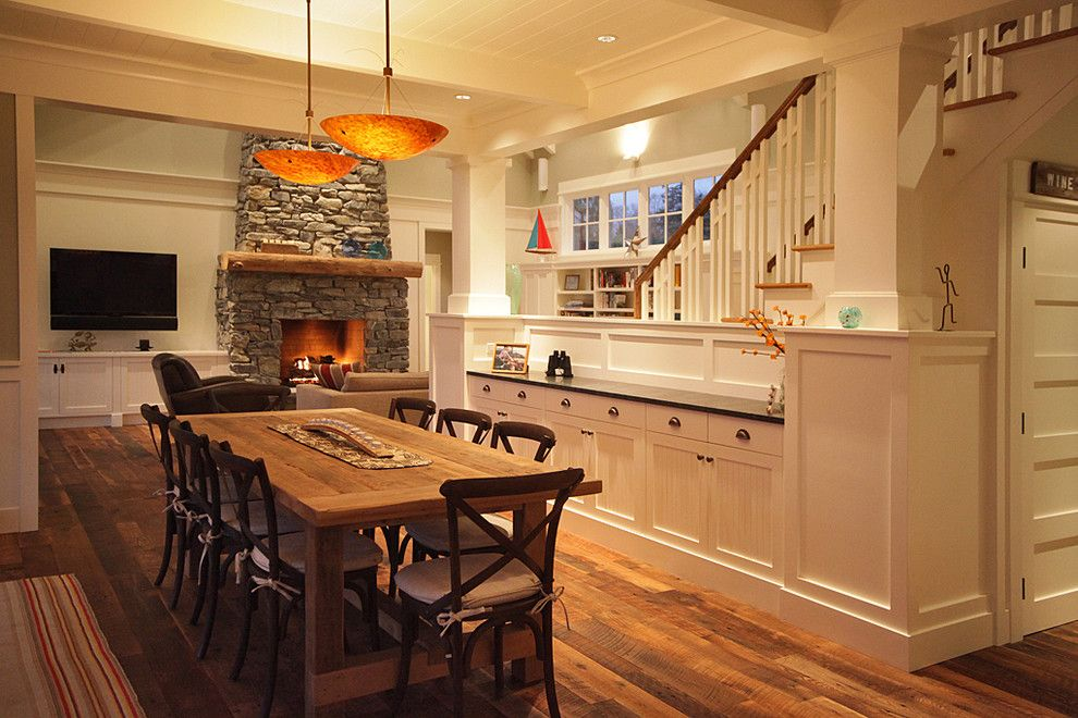 Bufftech for a Rustic Dining Room with a Wainscoting and Warmington North by Warmington & North