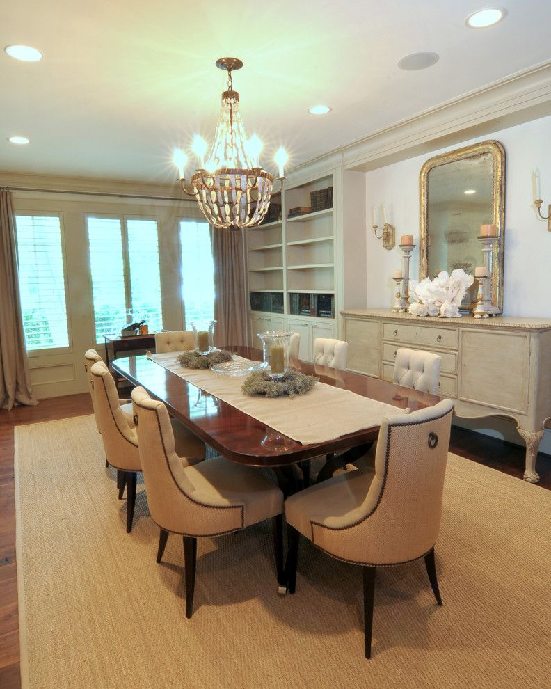 Bufftech for a Traditional Dining Room with a Upholstered Dining Chair and Dining Room by Greymark Construction Company