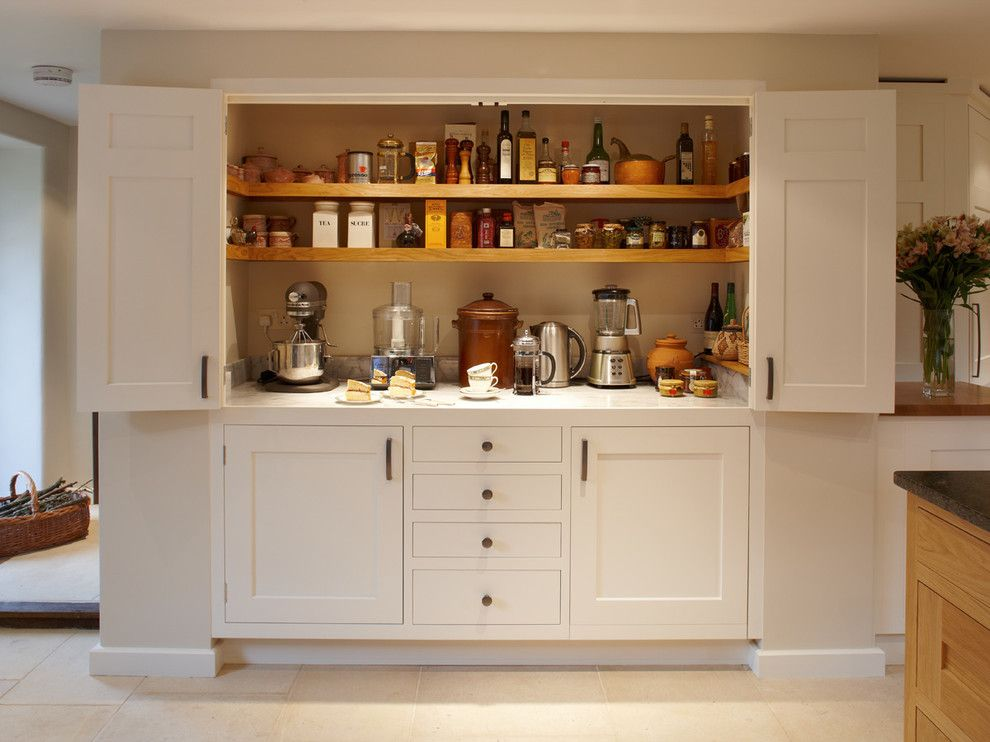 Builders Appliance Center for a Traditional Kitchen with a Sleek and Magnificent Larder Kitchen by Figura Kitchens & Interiors