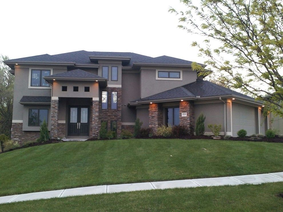 Builders Supply Omaha for a Contemporary Exterior with a Contemporary and Custom Home by Advanced House Plans