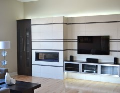 Builders Supply Omaha for a Contemporary Family Room with a Contemporary and Fireplace by Anthony Company Builders LLC