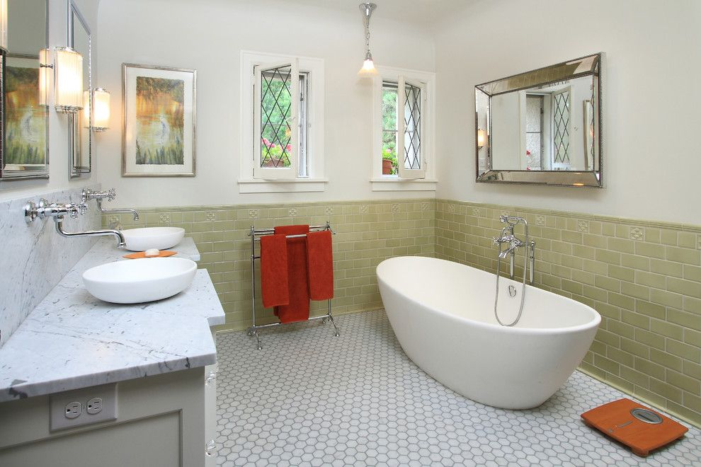Builders Supply Outlet for a Traditional Bathroom with a Mirror and Master Bathroom by W.b. Builders