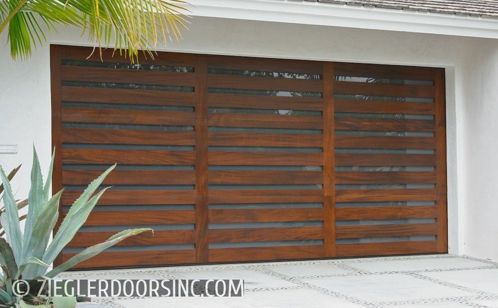 Builders Surplus Santa Ana for a Contemporary Shed with a Metal and Contemporary Garage Door Designs Custom Made in Orange County, Ca by Ziegler Doors Inc.