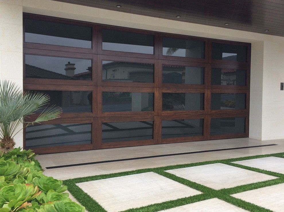 Builders Surplus Santa Ana for a Modern Shed with a Mahogany Wood and Modern Garage Doors by Ziegler Doors Inc.