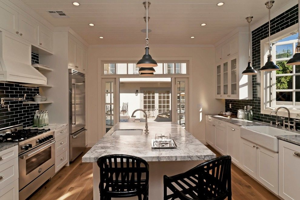Builders Warehouse Okc For A Traditional Kitchen With White Panel Ceiling And West Hollywood By Baypost Inc