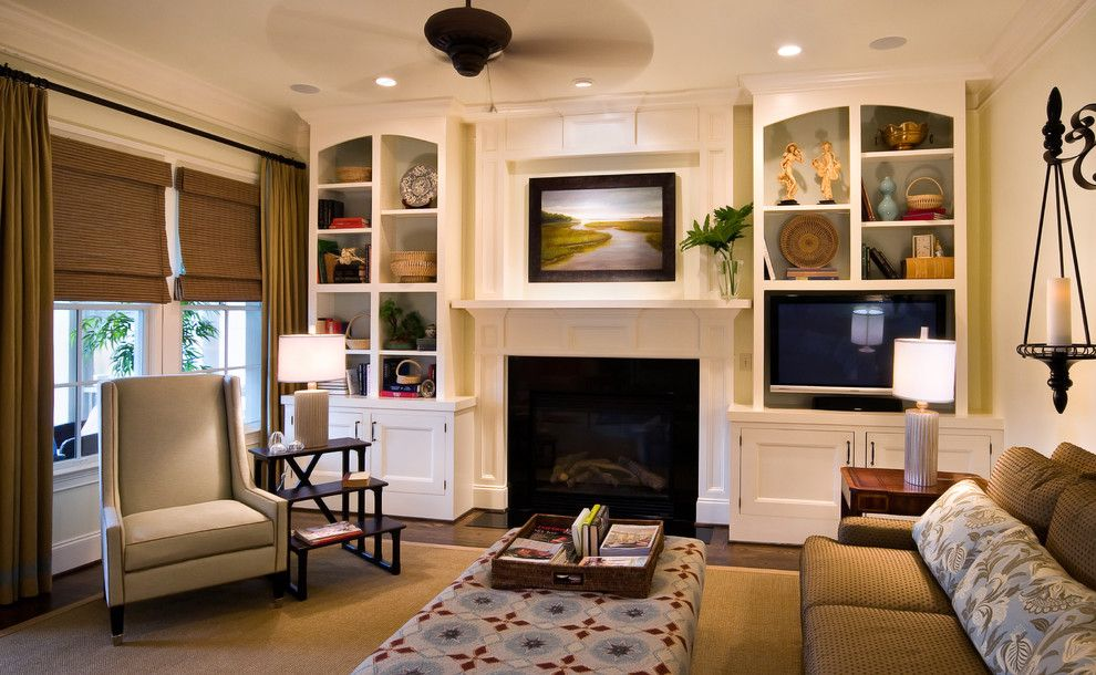Built in Bookcase Plans for a Traditional Living Room with a Family Room and Lorraine Vale by Lorraine G Vale, Allied Asid