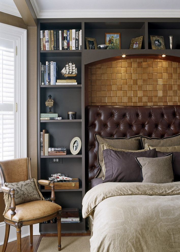 Built in Bookcase Plans for a Victorian Bedroom with a Cozy Bedroom and Gatsby by Siemasko + Verbridge