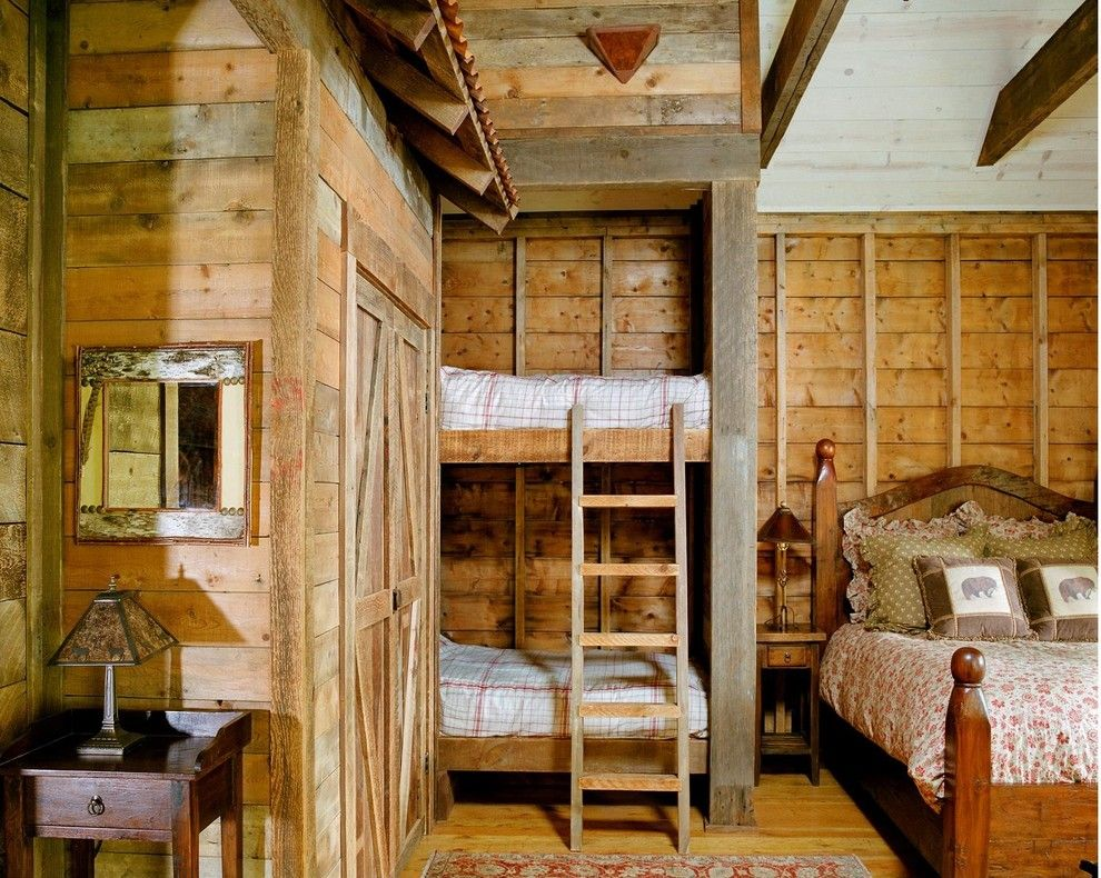 Built in Bunk Beds for a Traditional Bedroom with a Brown Throw Pillow and Fishing Club House by Coburn Development
